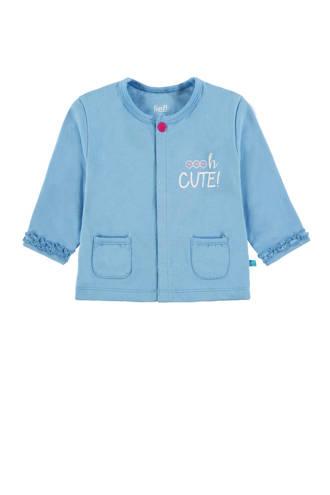 baby vest met tekst lichtblauw