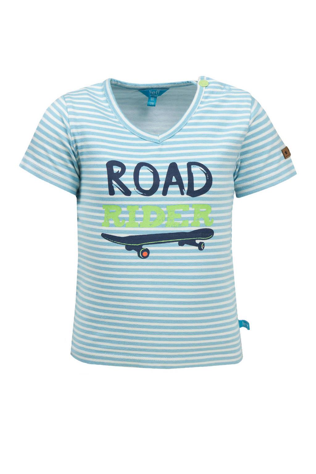 lief! gestreept T-shirt air blue|blue