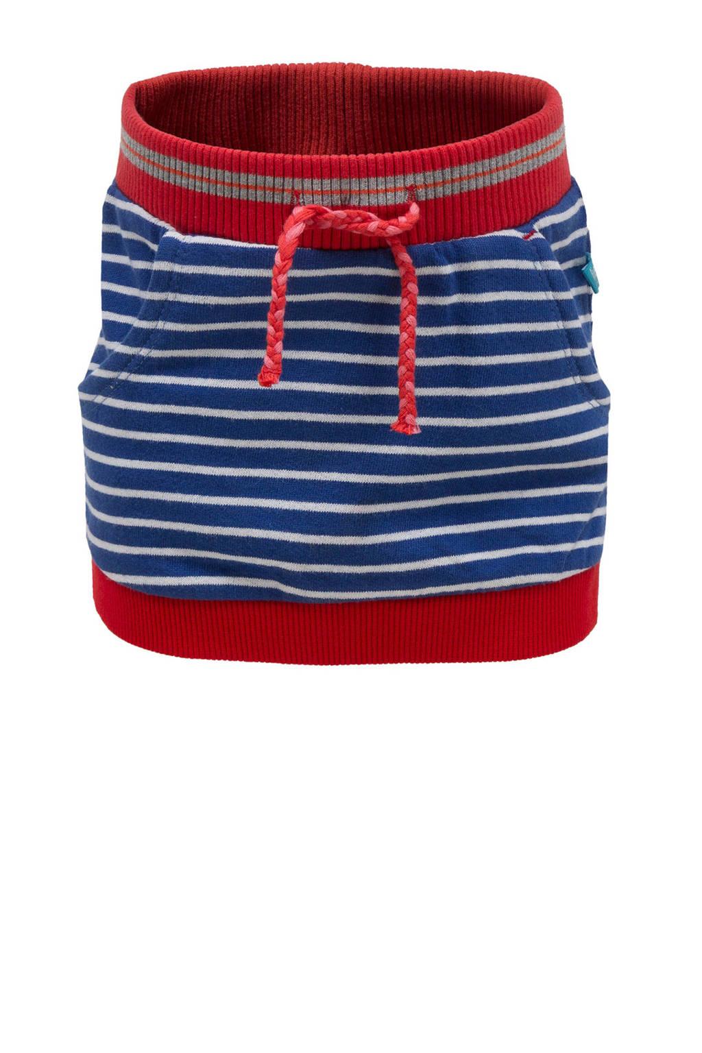 lief! sweatrok met streep dessin blauw/rood, Blauw/rood