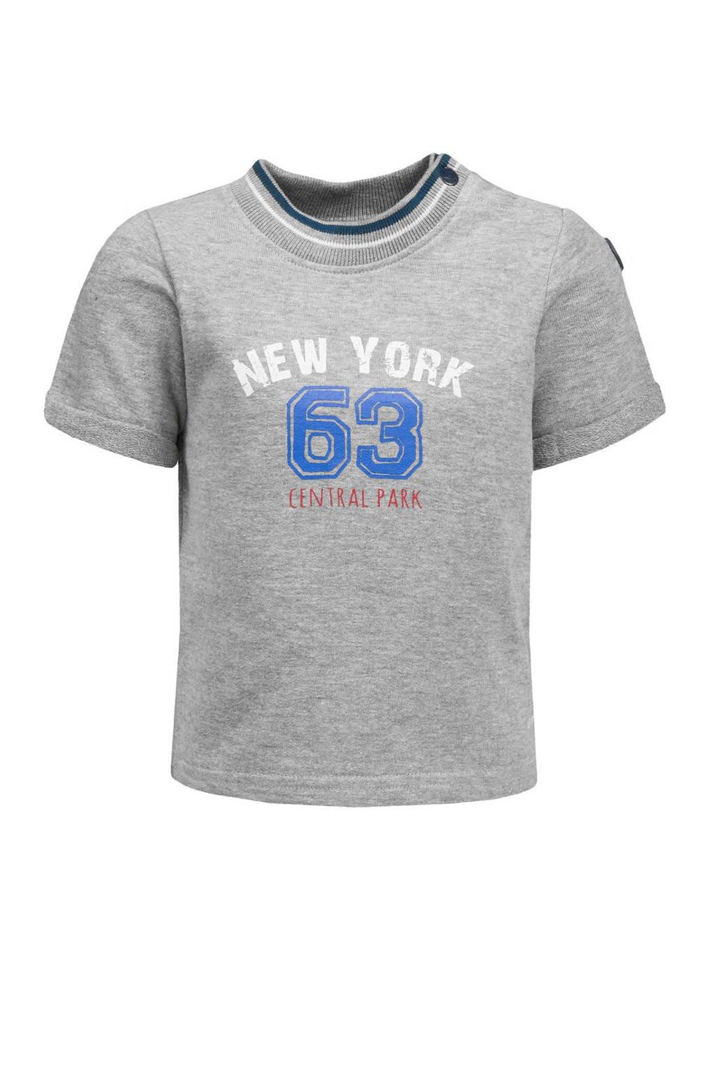 lief! T-shirt met tekst grijs melange, Grijs melange
