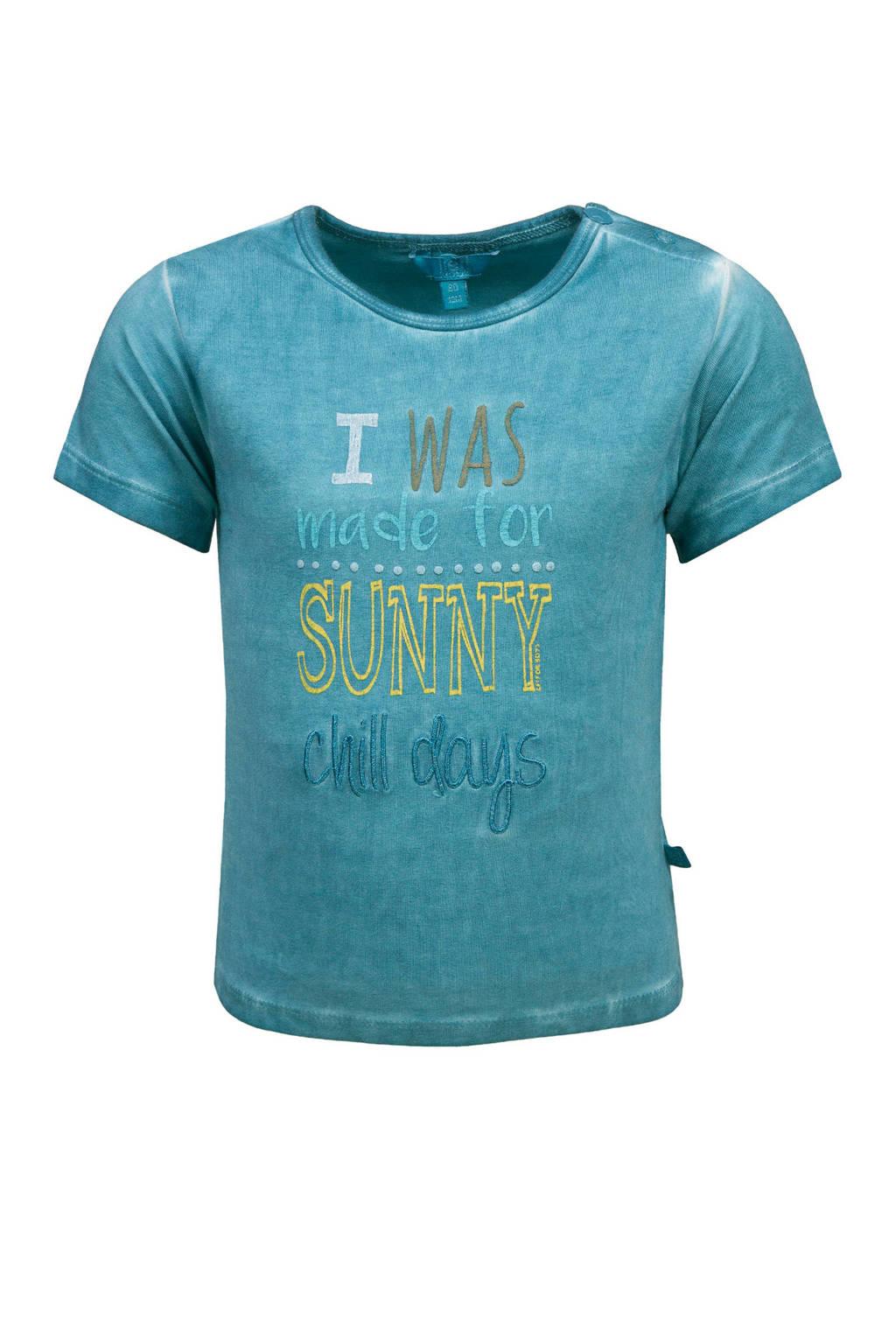 lief! T-shirt met tekst turquoise, Turquoise