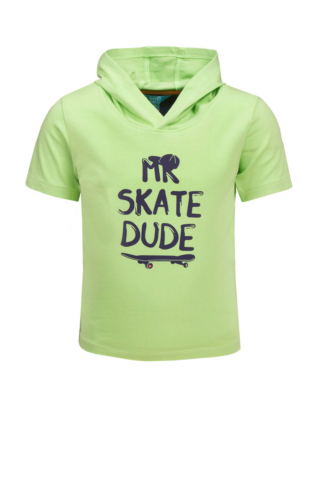 lief! T-shirt met printopdruk jade lime green