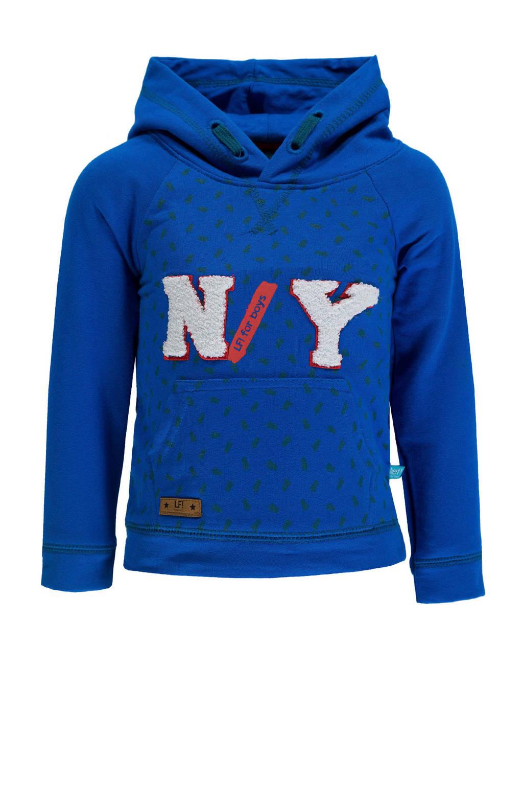 lief! hoodie met tekst blauw, Blauw