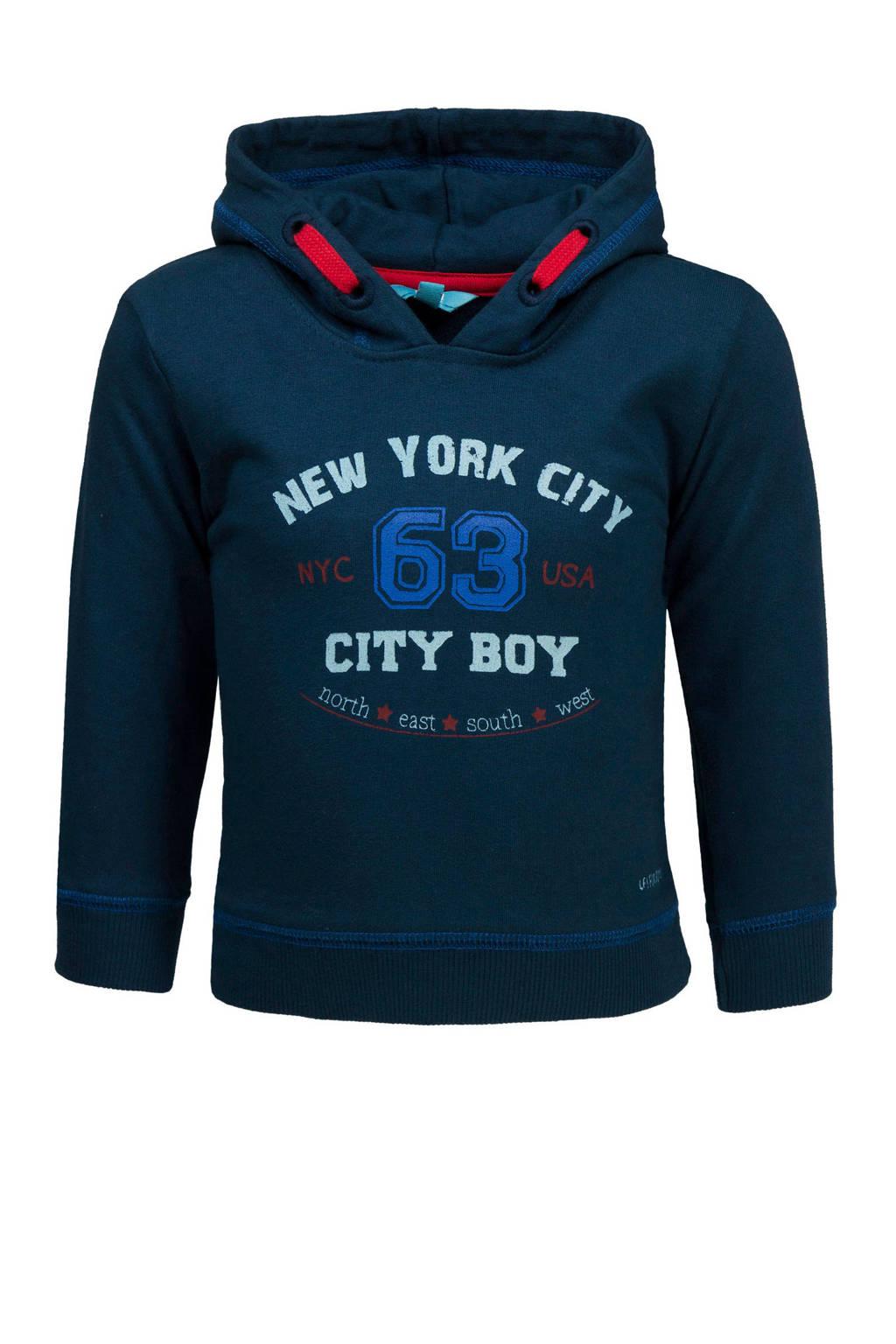 lief! hoodie met tekst donkerblauw, Donkerblauw