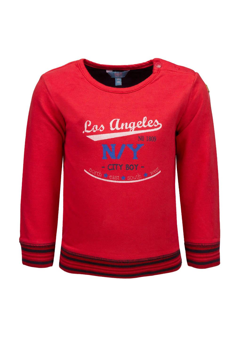 lief! sweater met tekst rood, Rood