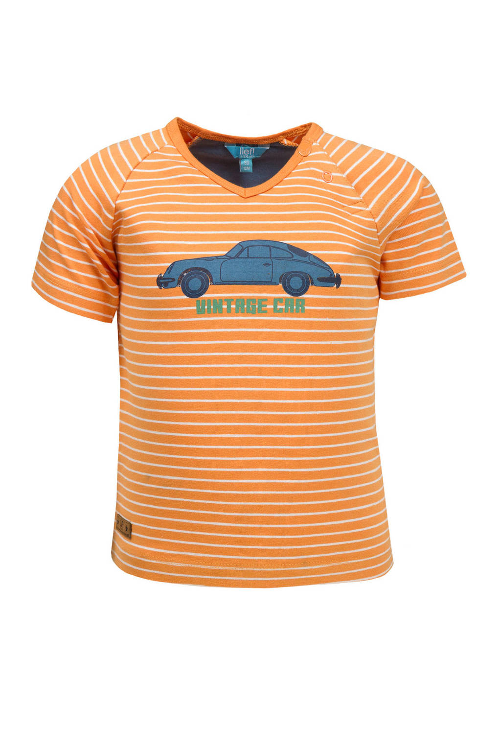 lief! gestreept T-shirt oranje, Oranje