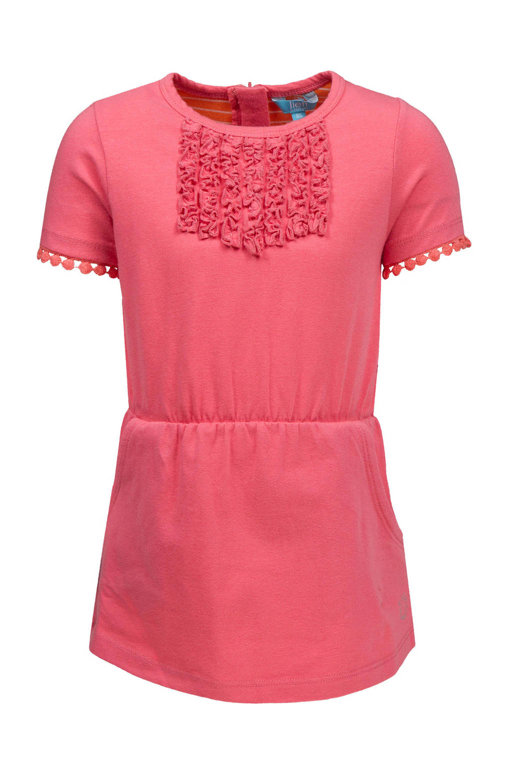 lief! jurk met rushes roze, Roze