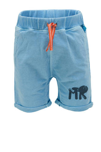 regular fit short met tekst