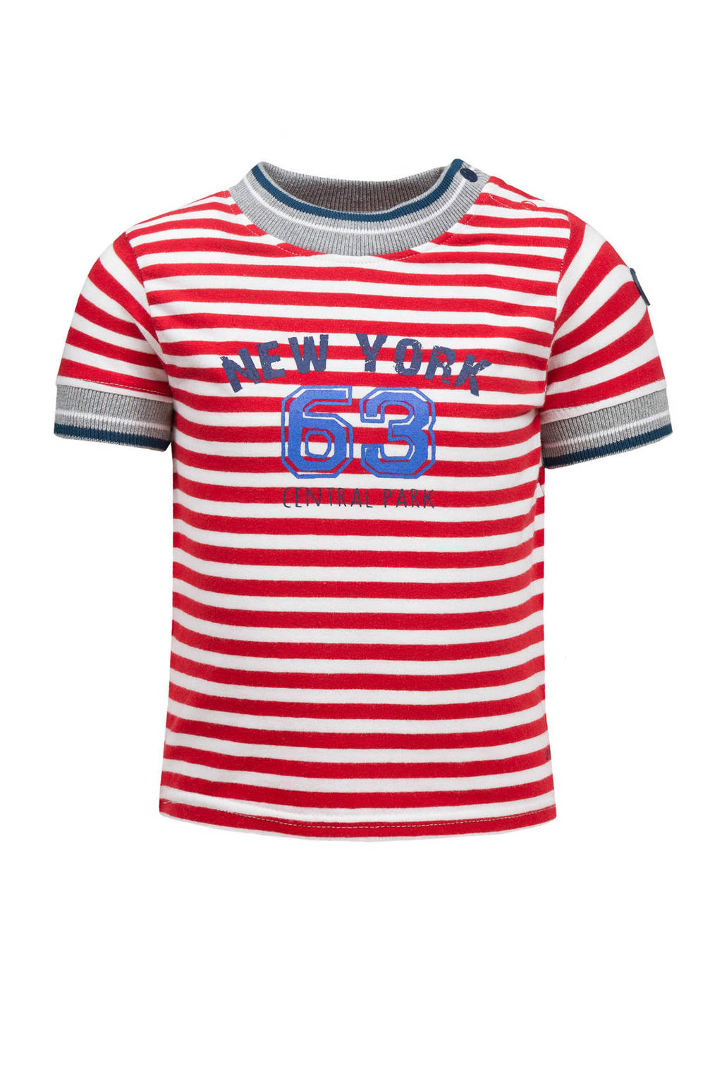 lief! gestreept T-shirt rood/wit, Rood/wit