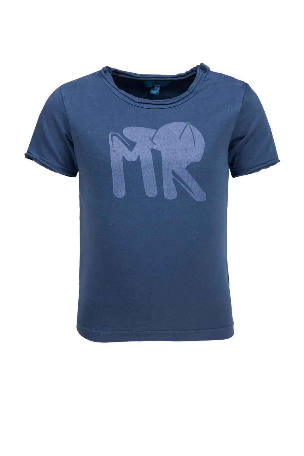 lief! T-shirt met printopdruk blauw, Blauw