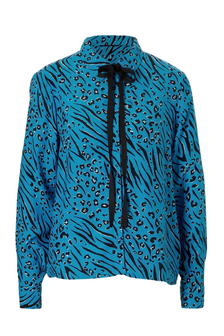 ONLY en blouse detail strik over print all met BXRnrqBS