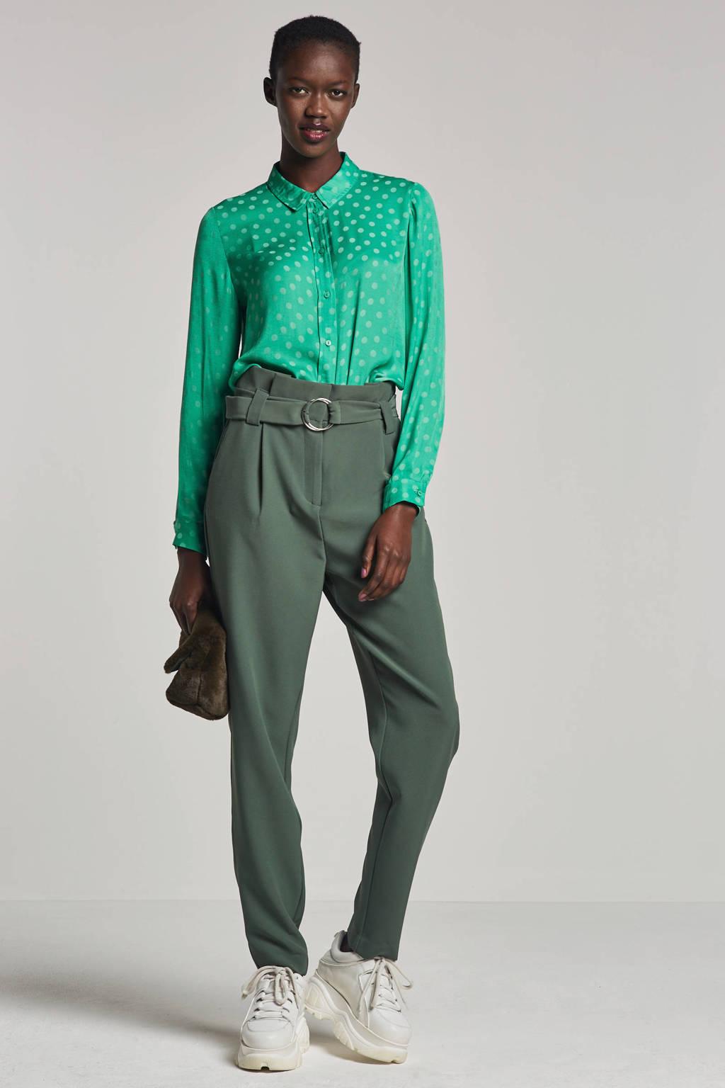 VERO MODA gestipte blouse, Groen