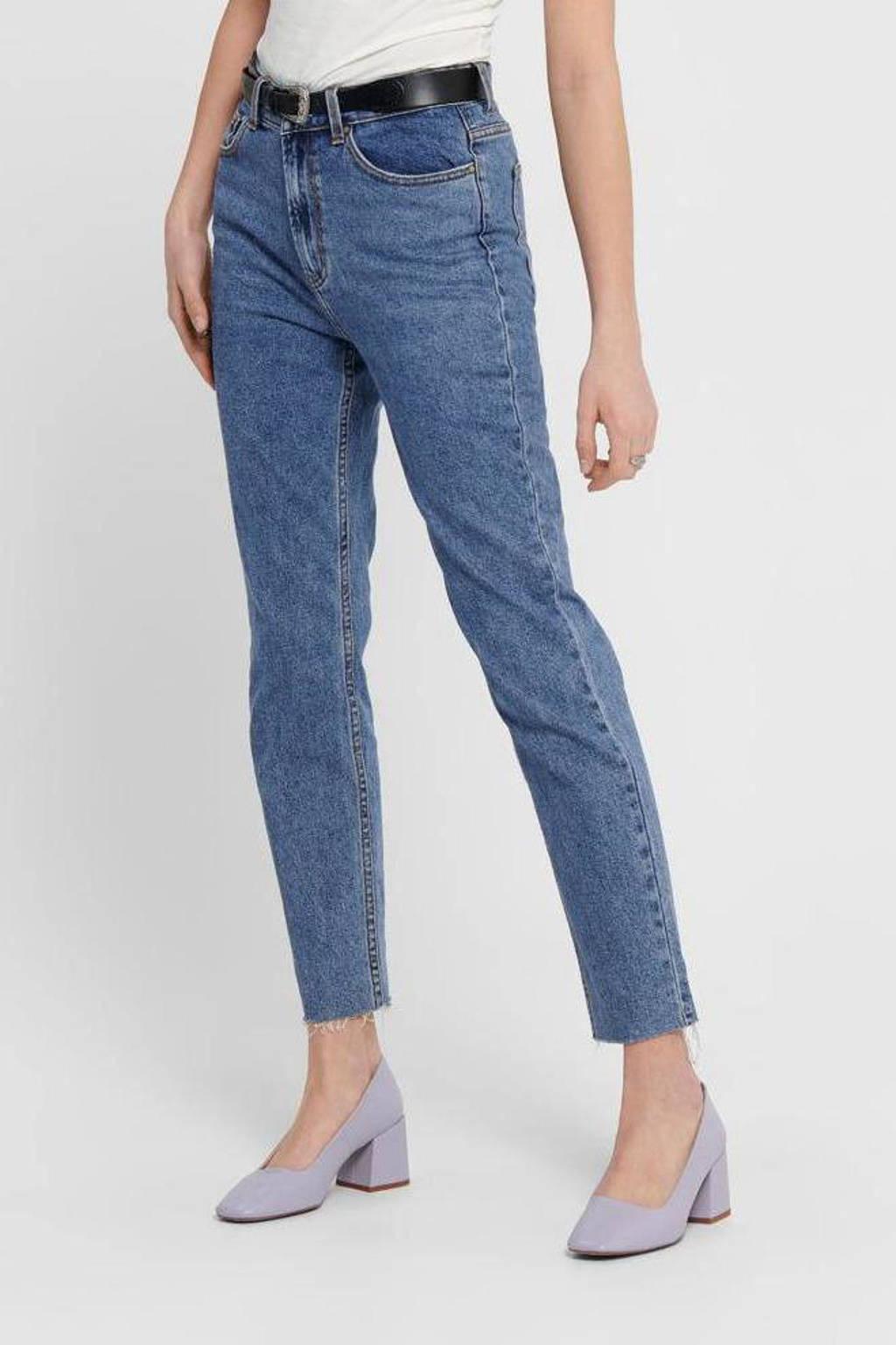 ONLY straight fit jeans ONLEMILY dark blue denim, Dark blue denim