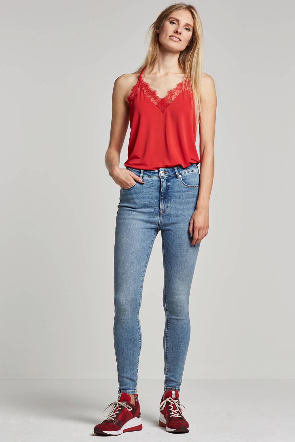 ONLY jeans met wassing blauw, Blauw