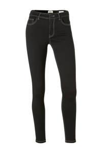 ONLY skinny jeans met witte stiksels zwart (dames)