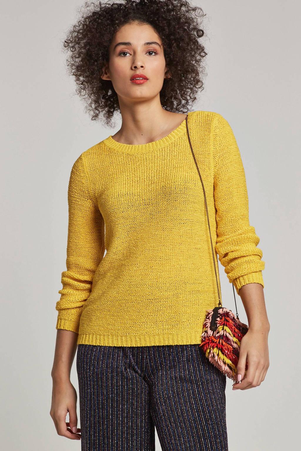 ONLY gebreide trui geel, Geel