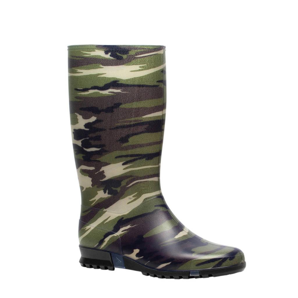 Dunlop regenlaars met camouflageprint groen, Groen