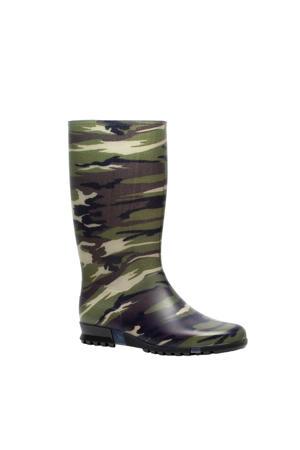regenlaars met camouflageprint groen