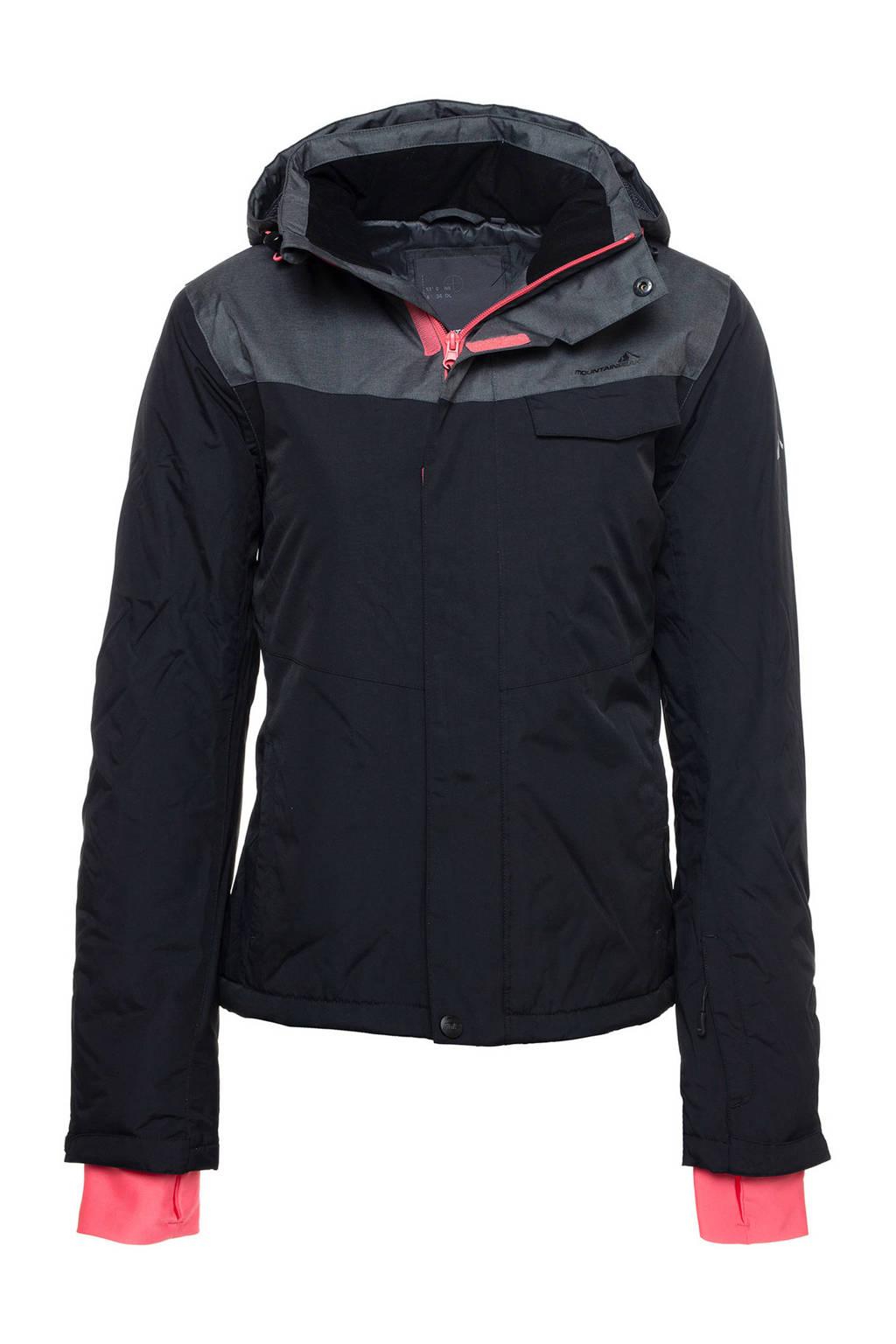 Mountain Peak ski-jack zwart/grijs, Zwart/grijs/roze