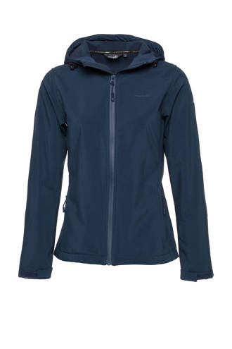 Mountain Peak softshell jack blauw