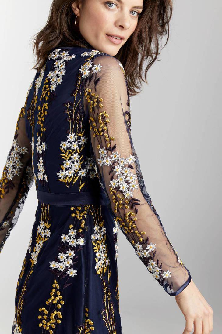 Steps all met print jurk donkerblauw over rA8a6rqxEw