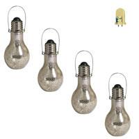 Luxform tafellamp bulb (set van 4), Zilver