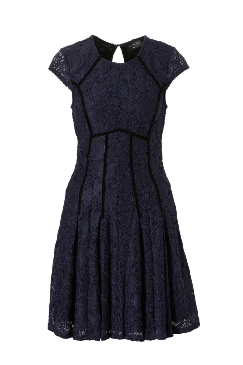 C&A Yessica kanten jurk donkerblauw, Donkerblauw