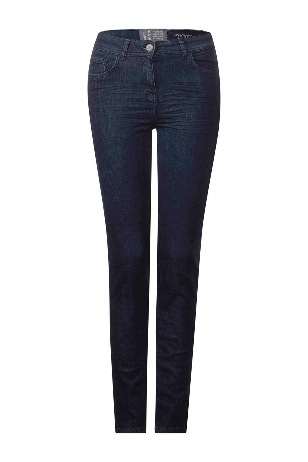 CECIL slim fit jeans, Blauw