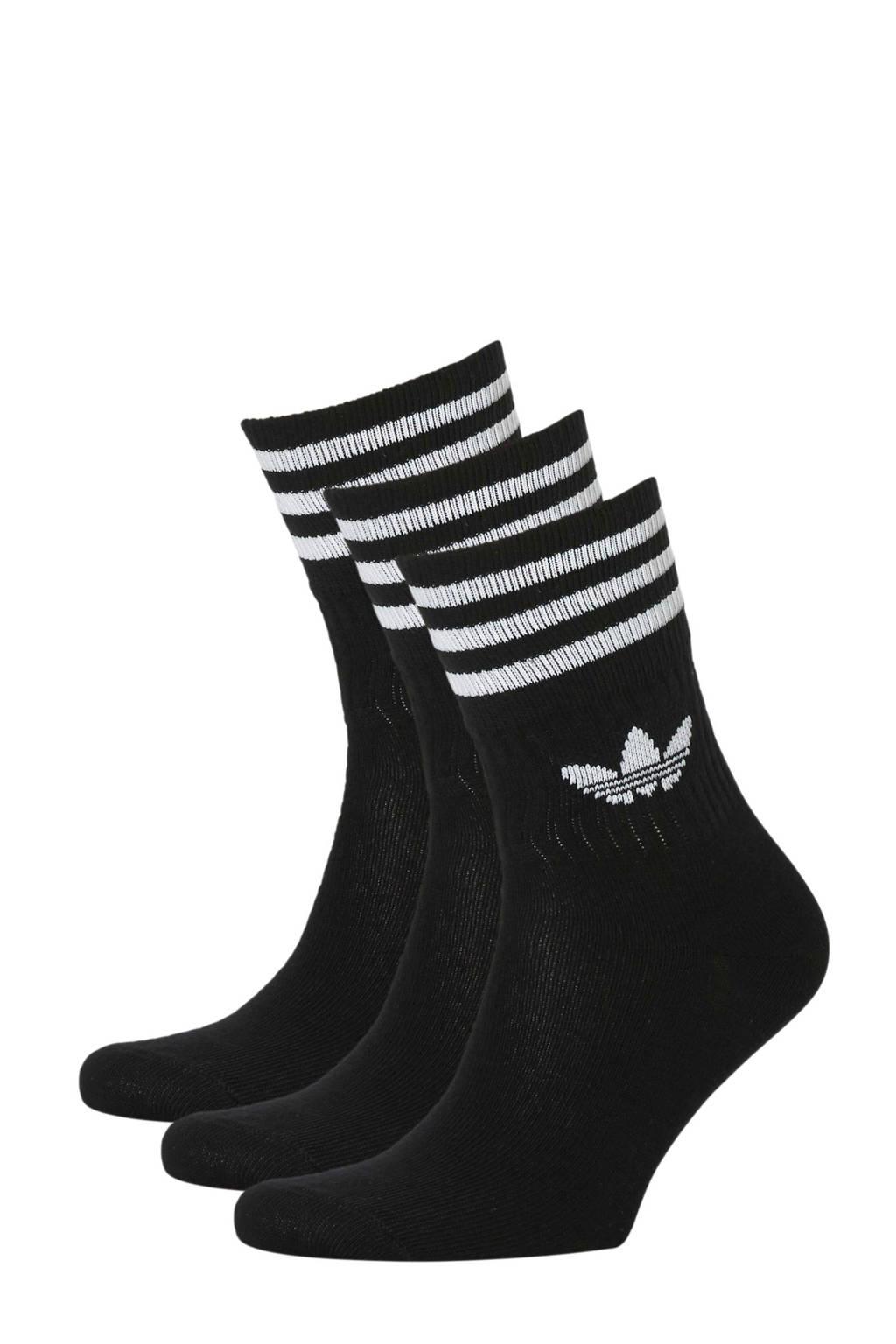 adidas originals   Adicolor sokken (set van 3), Zwart/wit