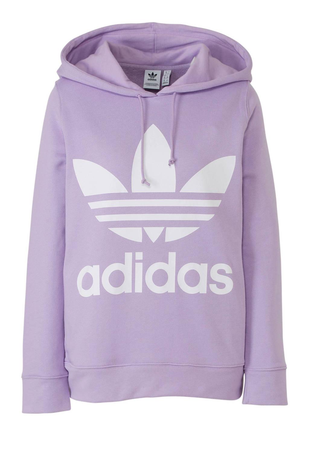 adidas originals hoodie paars, Paars/wit