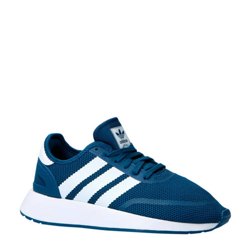 adidas originals N-5923 J suède sneakers blauw-wit kids