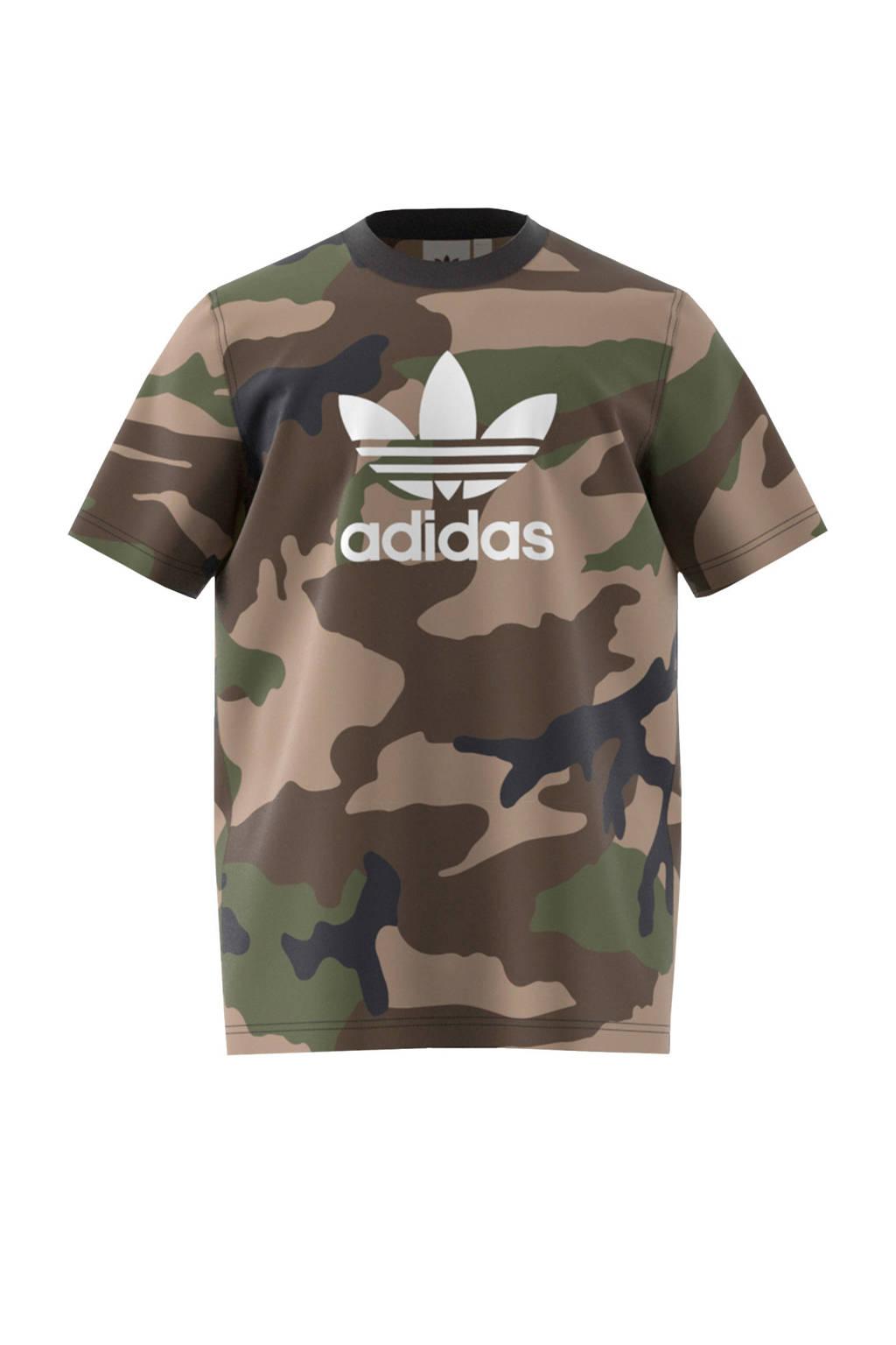 adidas originals   T-shirt, Groen camouflage