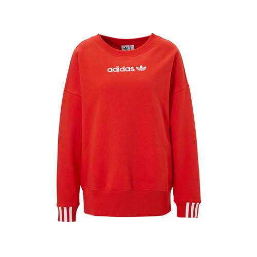 adidas originals sweater rood