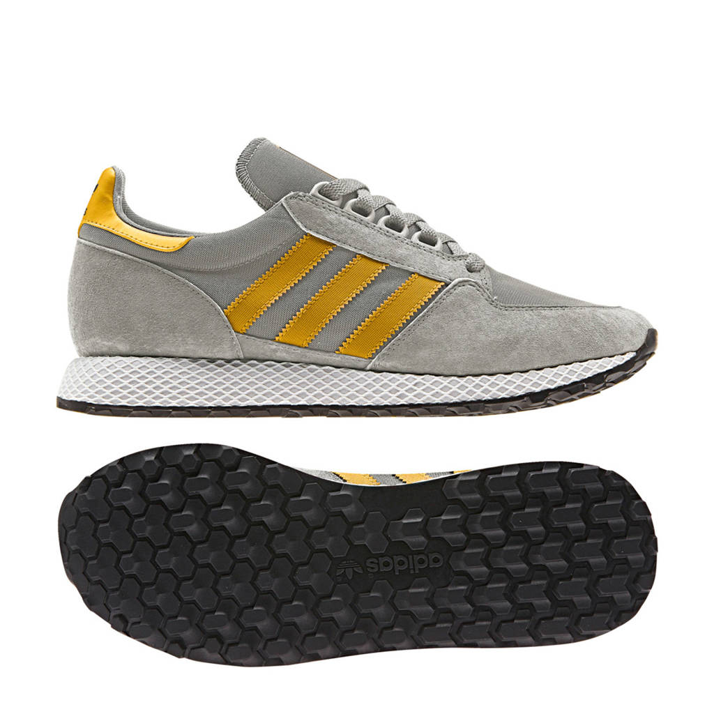 Sneakers Nubuck Grove geel Adidas Wit Originals Forest qItxzwTa