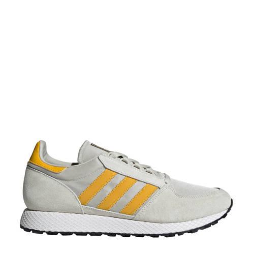 adidas originals Forest Grove nubuck sneakers wit-geel