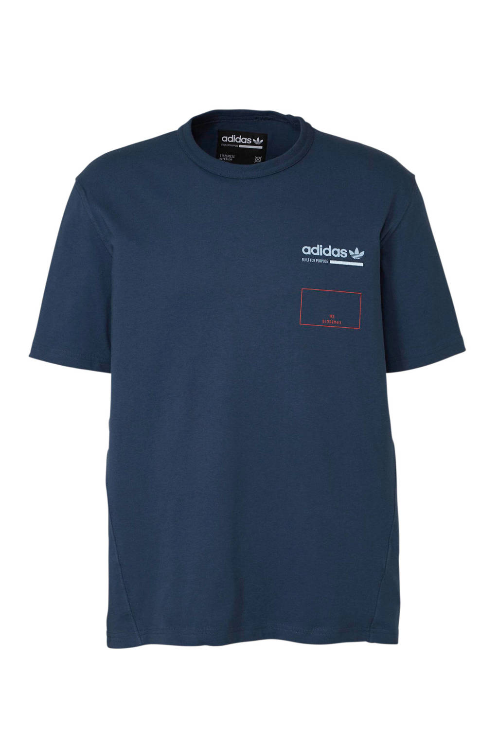 adidas originals   T-shirt, Blauw