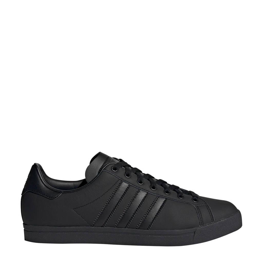 adidas Originals Coast Star J leren sneakers zwart, Zwart