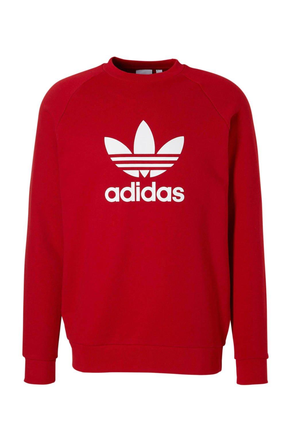 f01cf9a3ef7 adidas originals sweater rood, Rood/wit