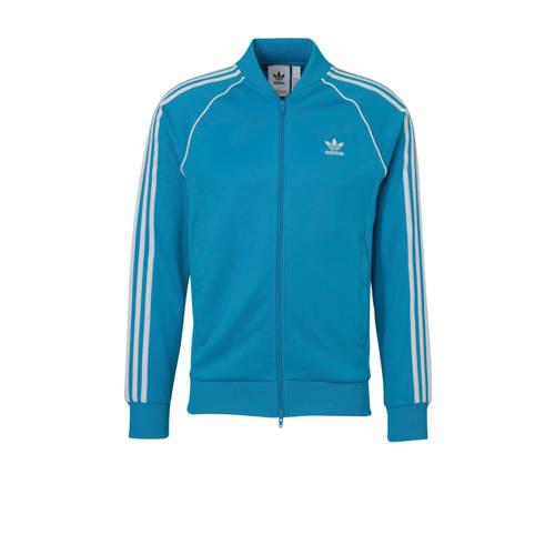 adidas originals vest blauw-wit