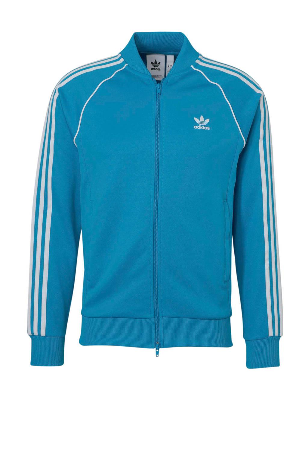 462c1581167 adidas originals vest blauw/wit, Blauw/wit