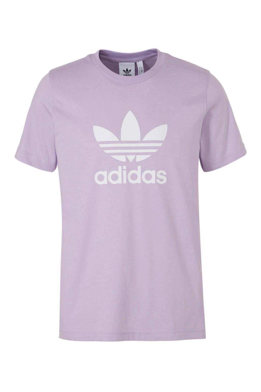 adidas originals   T-shirt paars, Paars/wit