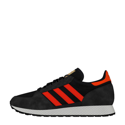 afabb2425dc adidas originals Forest Grove nubuck sneakers antraciet-rood