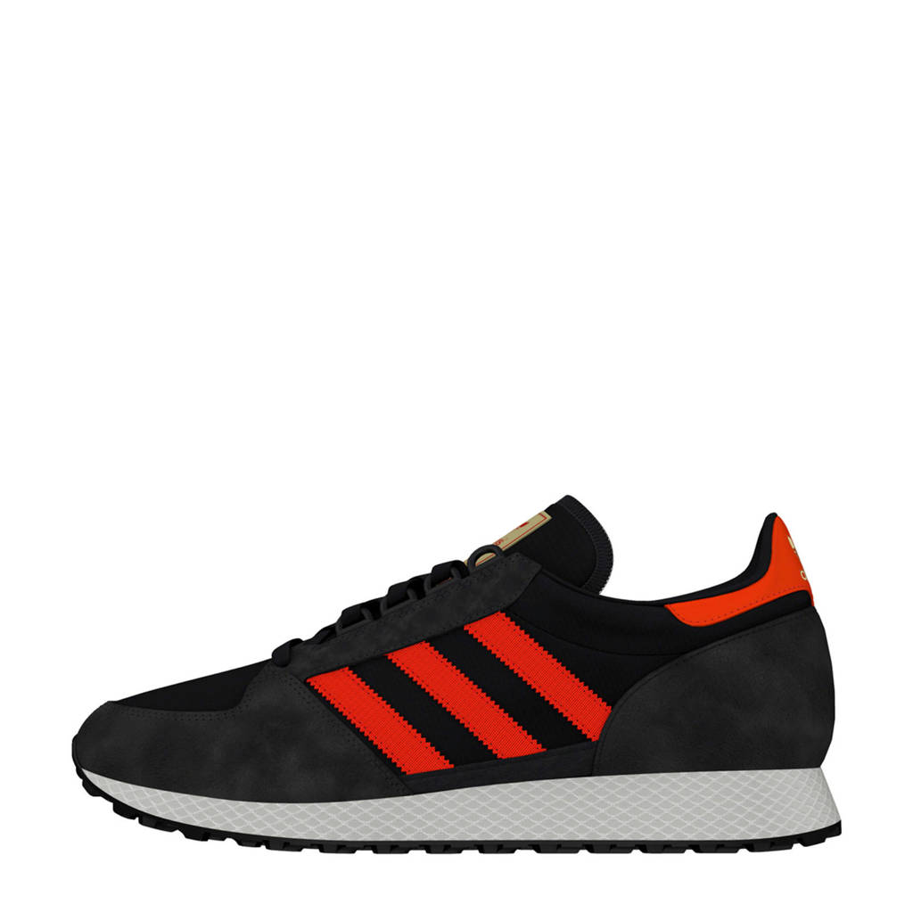 adidas originals Forest Grove nubuck sneakers antraciet/rood, Antraciet/rood