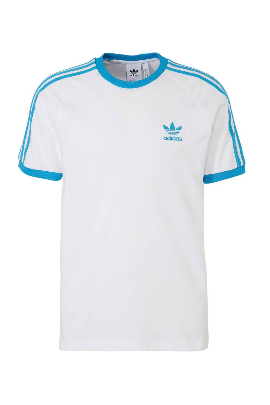 adidas Originals T-shirt wit, Wit/blauw