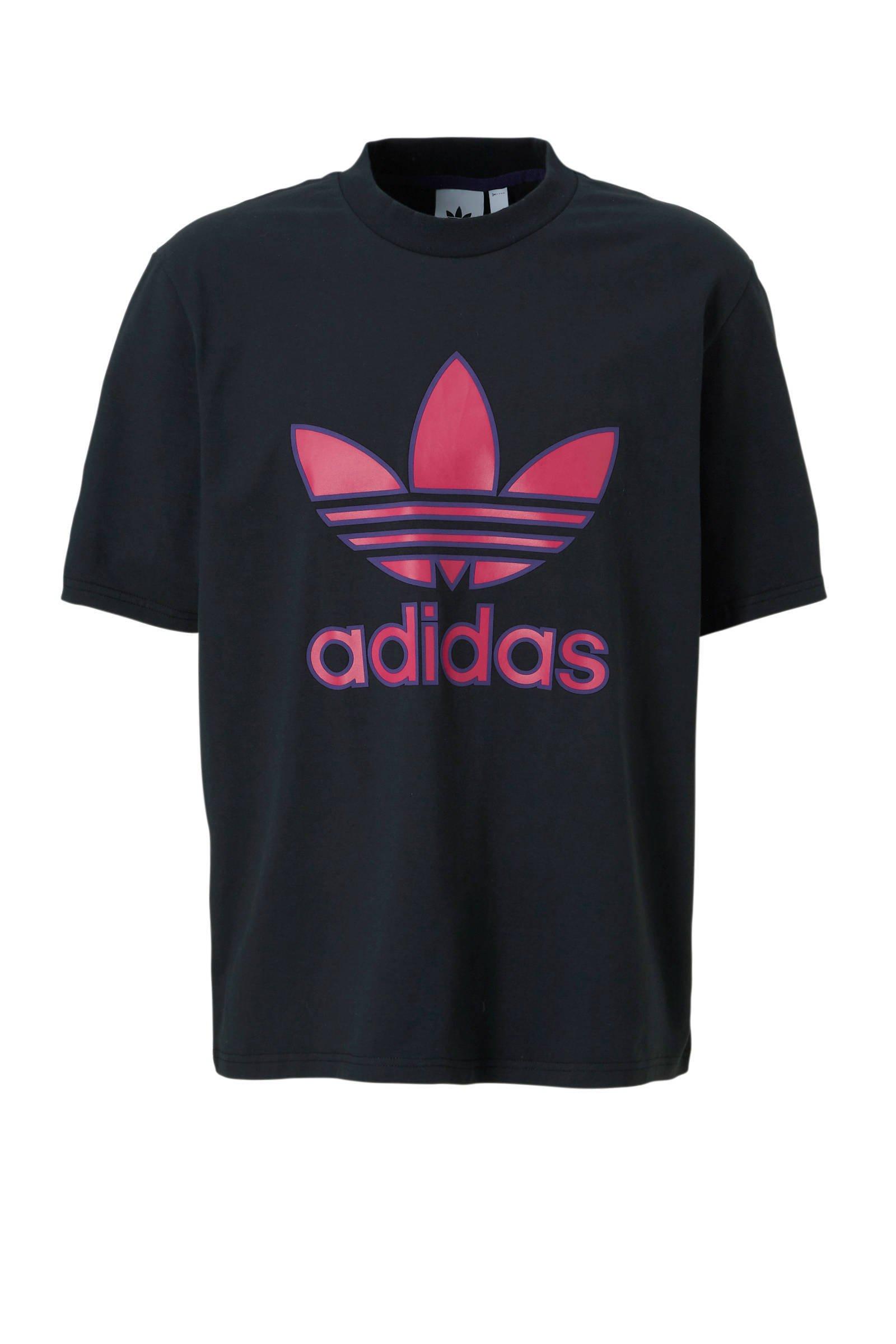adidas originals T shirt zwart | wehkamp