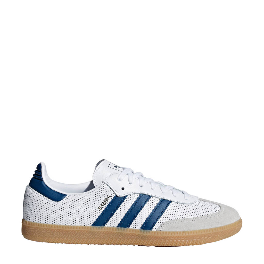 adidas originals  Samba OG sneakers wit/donkerblauw, Wit/donkerblauw