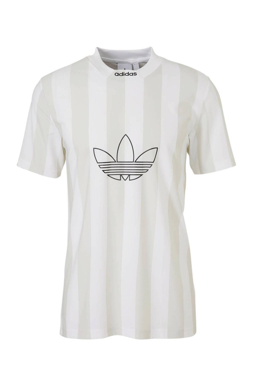 adidas originals   T-shirt wit/grijs, Wit/grijs