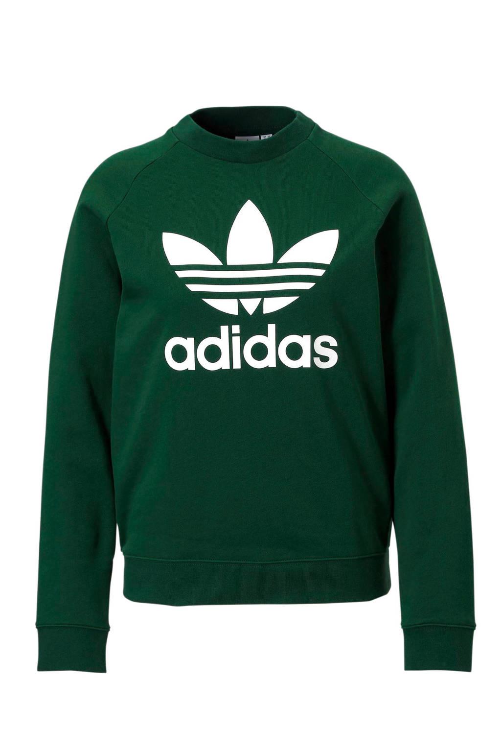adidas originals sweater groen, Groen/wit