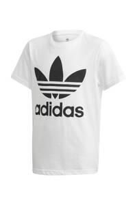 adidas Originals   Adicolor T-shirt wit, Wit/zwart, Jongens/meisjes