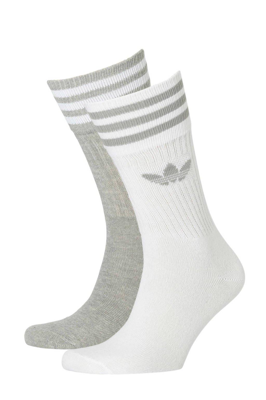 adidas originals   sokken (set van 2), Grijs/wit